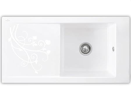 Villeroy & Boch Timeline 60 La Rose Ceramic Sink Sink Décor White Kitchen