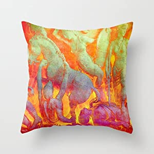 Square Throw Pillow Sizes : Amazon.com - Popular Throw Pillow/Travel Pillow-Cotton Linen Square Decorative Throw Pillow Case ...