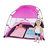 18-Inch-Doll-Accessories-Amazing-Pink-Dining-Canopy-Camping-Tent-includes-Matching-Carry-Case-Fits-American-Girl-Dolls