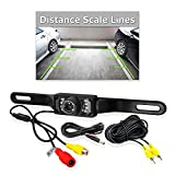 PYLE PLCM10 License Plate Mount Rearview Camera with 0 Lux Night Vision