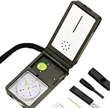 Best Survival Electronic Compass amp 10-in-1 Camping Multi Tool - Includes LED Light Thermometer amp