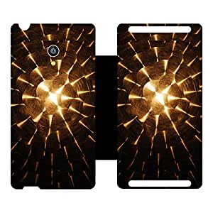 Skintice Designer Flip Cover with hi-res printed Vinyl sticker wrap-around for Micromax Canvas Fire 4G