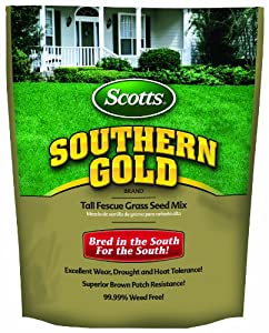 Scotts Turf Builder Grass Seed - Southern Gold Mix for Tall Fescue Lawns, 3-Pound (Discontinued by Manufacturer) (Not Sold in AK, AZ, CA, CO, CT, DC, HI, ID, IA, IL, IN, KS, MA, ME, MI, MN, MT, ND, NE, NJ, NH, NM, NV, NY, OH, OR, PA, RI, SD, UT, VT, WI, WY)