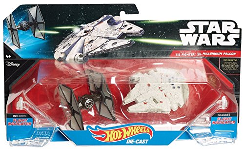 Hot Wheels Star Wars: The Force Awakens First Order TIE Fighter vs. Millennium Falcon Starship 2-Pack - 1