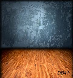 10X10ft Concrete Wall with wooden floor Thin vinyl Customized Backdrop CP Photography Prop Photo Background DB41
