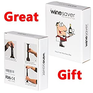 Just Pure Hut Wine Saver Pump - Preserver Accessories for Kitchen - 4 Stoppers Plus 2 Bonus Pouring Discs