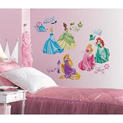 York Wallcoverings RMK2199SCS RoomMates Disney Princess - Royal Debut Peel & Sti,