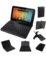 Stuff4® Housse en Cuir avec Clavier + USB Micro Câble pour tous les 8 à 9 Pouces Tablet PC - Entièrement Réglable