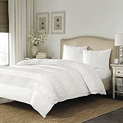 Stone Cottage Gabriella Duvet Cover Set, Full/Queen, Frost