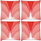 Snoogg Dream Falls Cherry Pack Of 4 Digitally Printed Cushion Cover Pillows 12 X 12 Inch
