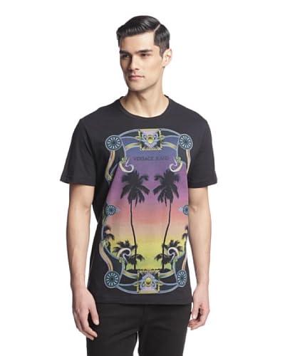Versace Jeans Men's Graphic Short Sleeve Crew Neck Tee Shirt