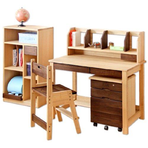 ウォールナット学習机 学習椅子 無垢材 天然木 エコ塗装 日本製 大川家具 低ホル 5点セット 1811000900