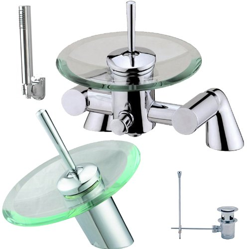 Bath And Basin Tap Set Waterfall Bathroom Shower Taps (pack 1R)