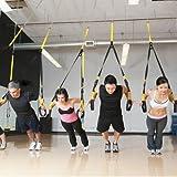 ProDeals(TM) Pro Sangle de suspension Suspension Trainer Noir/Jaune Ensemble d'élastique pour Musculation avec sac