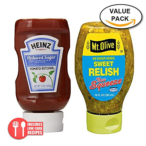 Value Combo Pack: Heinz Ketchup Reduced Sugar and Mt. Olive No Sugar Sweet Relish (Bread Reduced Calorie compare prices)