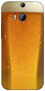 Snoogg Beer Glass Up Designer Protective Back Case Cover For Htc One M8