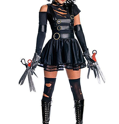 [NonEcho Women's Halloween Novelty Costume Miss Edward Scissorhands Adult] (Edward Scissorhands Womens Halloween Costume)