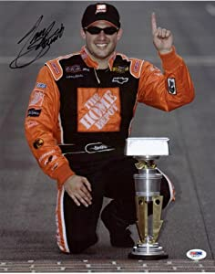 TONY STEWART NASCAR SIGNED AUTHENTIC 11X14 PHOTO AUTOGRAPHED CERTIFICATE OF... by Press Pass Collectibles