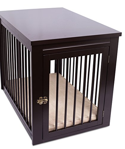 Internet\'s Best Decorative Dog Kennel with Pet Bed | Wooden Dog ...