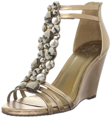 Vince Camuto Women's Zen Wedge Sandal,Summer Bronze,8 M US