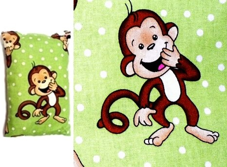 Boo Boo Buddy / Microwaveable And Freezer Ready Handybag Mini **Perfect Gift** Giggling Green Monkey