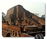 The Sariputa Stupa at Nalanda India ( First University Ever Established ) Mouse Pad, Mousepad (Ancient Mouse Pad) by Pearl Mousepad
