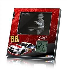 NASCAR Dale Earnhardt Jr 88 National Guard Picture Frame and Desk Clock by Keyscaper
