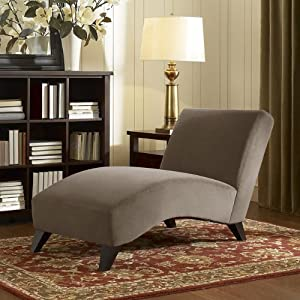 contemporary taupe chaise this modern chaise