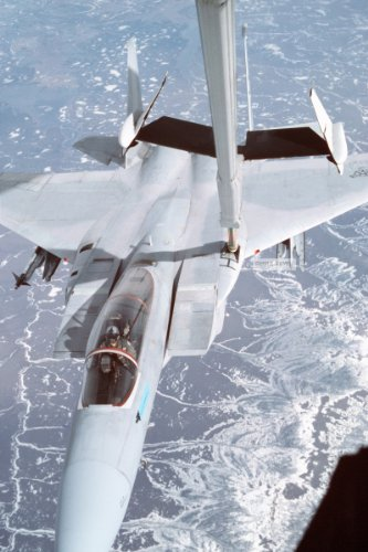 Photo An F-15 Eagle Aircraft From The 21St Tactical Fighter Wing Is Refueled By A 2Nd Bombardment Wing Kc-10 Extender Aircraft. The Wings Are Participating In Amalgam Warrior 88, The Largest Air Defense Exercise Of The Year Designed To Afford Units The Op