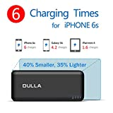 DULLA 15000mAh Portable Power Bank 2.1A Fast Charger External Battery, 2 USB Ports for iPhone 7 6s 6 Plus, iPad, Samsung Galaxy and More(black)
