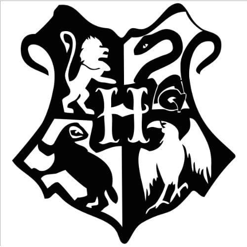 Harry Potter Hogwarts Crest Vinyl Die Cut Decal Sticker 5 Black
