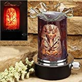 Electric Night Lite Aroma Lamp with Egyptian Sarcophagus Design