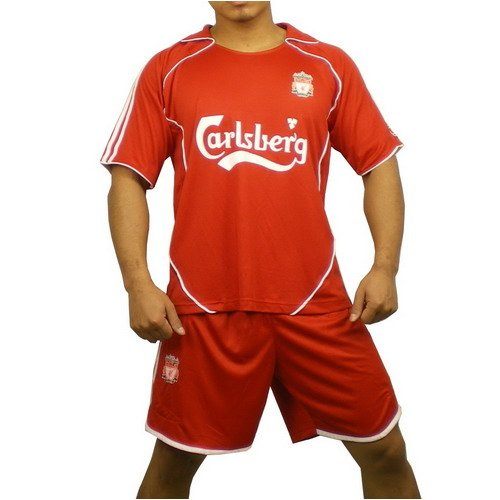 Brand New Mens Liverpool Soccer Set Orange Jersey & Shorts