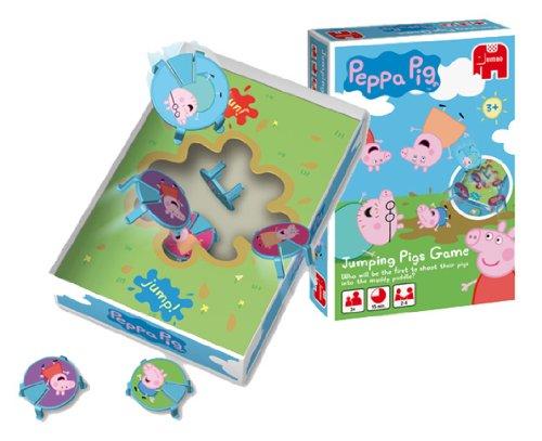 Imagen principal de Disney Jumping Pigs - Juego de mesa de Peppa Pig y sus amigos saltadores