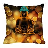 meSleep Saint Digitally Printed 16x16 inch Cushion Cover