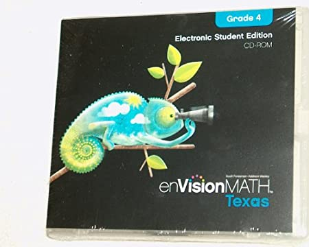 enVision Math Texas Electronic Student Edition CD-ROM Grade 4