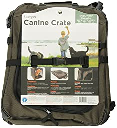 CANINE CRATE Small, Black/Tan