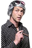 Party/Fancy Dress/Halloween WIG men women unisex black with strands of silver grey PLAYBOY Gigolo 68875-P103-309A