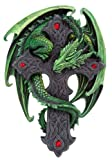 Woodland Guardian - Gothic Style Wall Decoration - Dragon Wrapped Around Celtic Cross