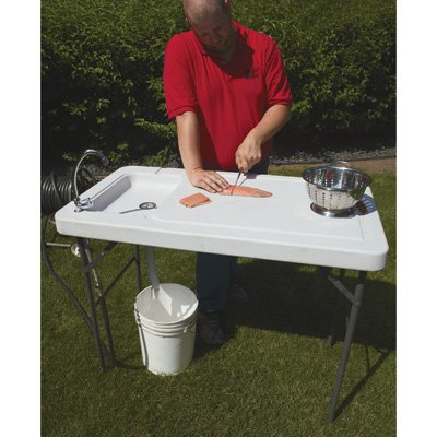 Portable Camp Fish Cleaning Table With Faucet