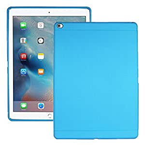Heartly New Retro Dotted Design Hole Soft TPU Matte Bumper Back Case Cover For Apple iPad Pro 12.9 Inch - Power Blue