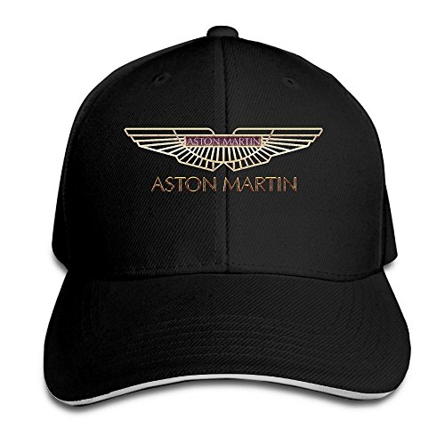 aston-martin-logo-adjustable-sandwich-peaked-baseball-caps-hats-adjustable-for-unisex-black