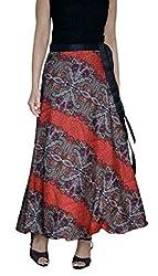 DeeVineeTi Printed Women's Wrap Around Multicolor Skirt, FreeSize