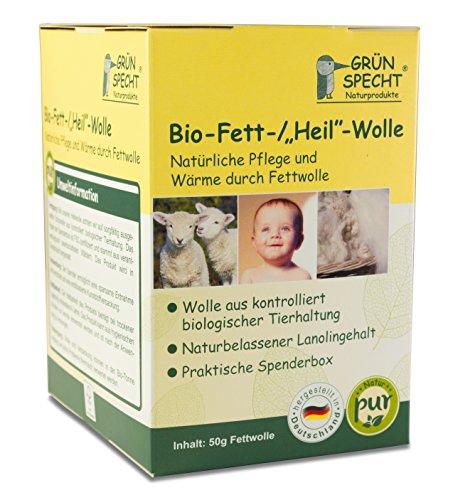 "GRÜNSPECHT 562-00 Bio-Fett-/""Heil""-Wolle ""Natur Pur"", 50gr"