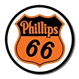 Phillips 66 Shield Logo Gasoline Round Retro Vintage Tin Sign