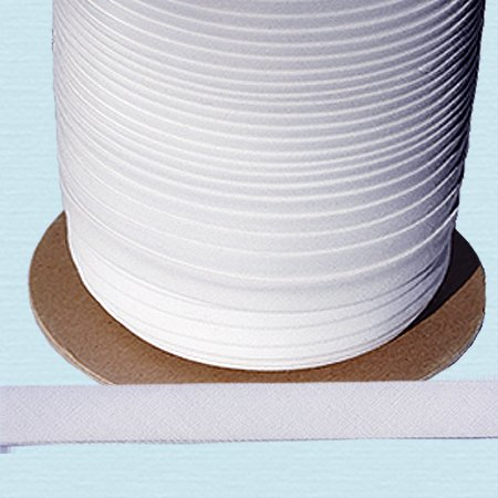 "Cheapest Price! Bias Tape ~ 1/2"" Wide Double-fold Bias Tape ~ White Poly Cotton (10 Yards / Pac..."