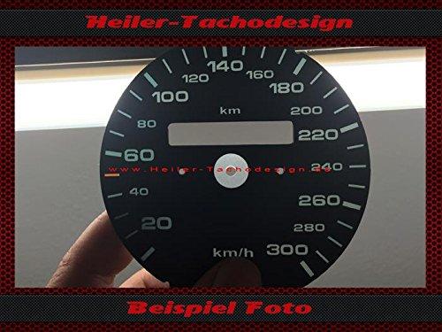 Tachoscheibe Porsche 911 964 993 ohne Tageskilometerzähler Mph zu Kmh