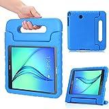 MoKo Samsung Galaxy Tab A 8.0 Case - Kids Shock Proof Convertible Handle Light Weight Super Protective Stand Cover Case for Samsung Galaxy Tab A 8.0 inch Tablet SM-T350, BLUE