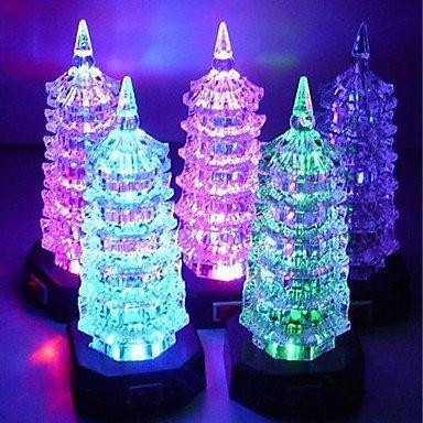 Gg Coway Colorful Acrylic Pagoda Led Nightlight