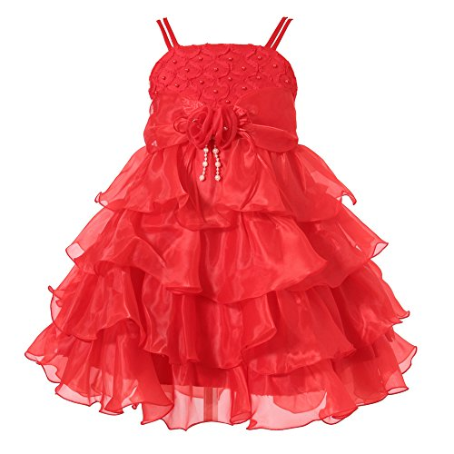Richie House Little Big Girls' Long Dress or Bolero with Pearls Size 3-12